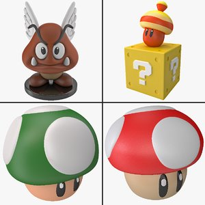 super mario world toy 3d c4d