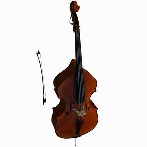 3d model double bass