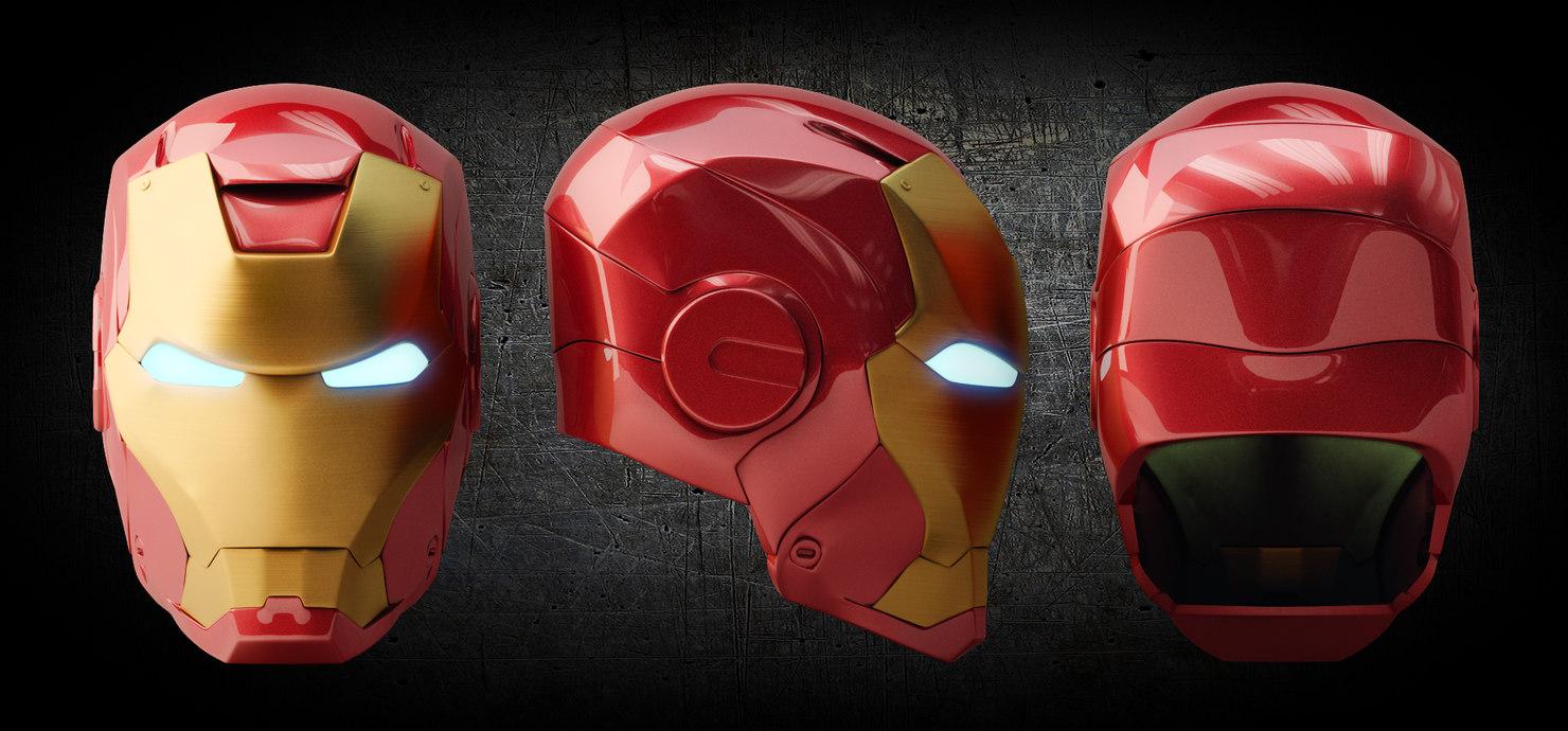 3d model of iron man helmet