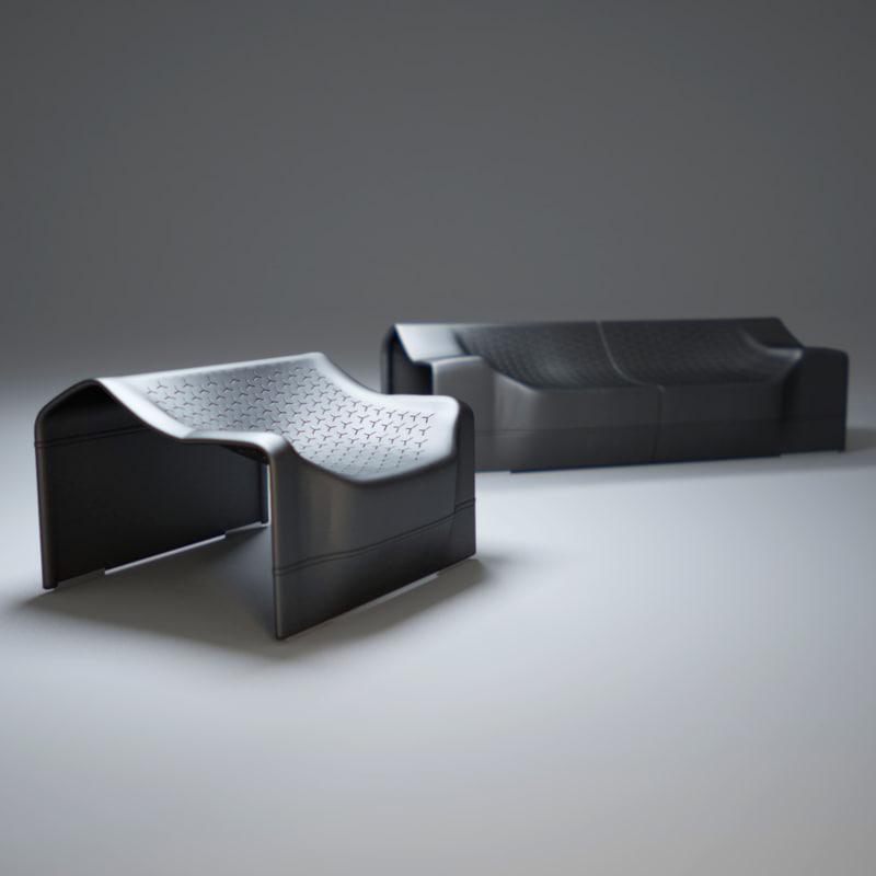 skin-sofa 3d model