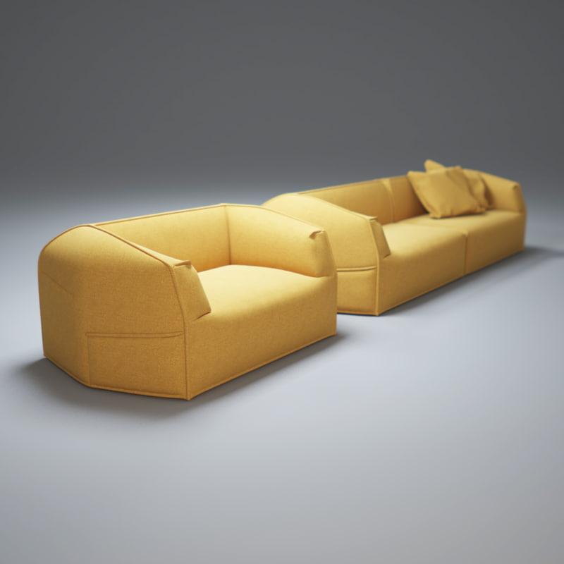 massas sofa 3d model