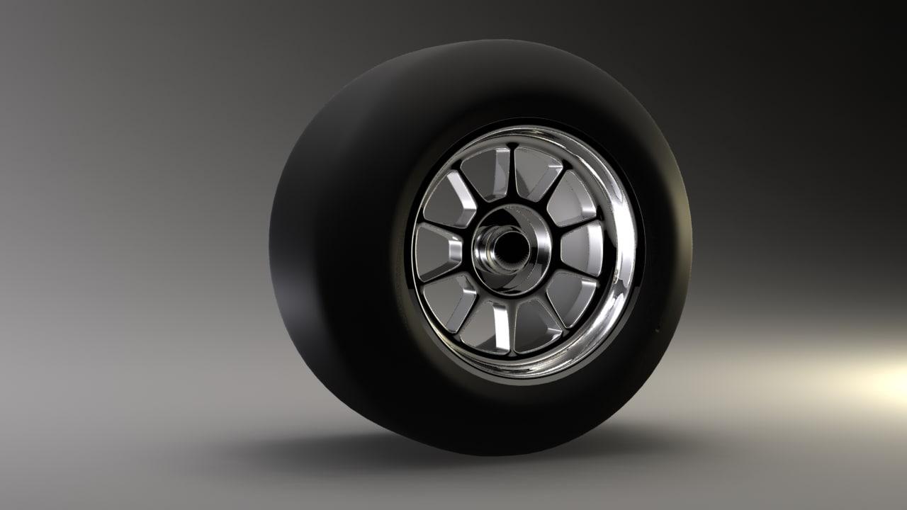 maya f1 wheel