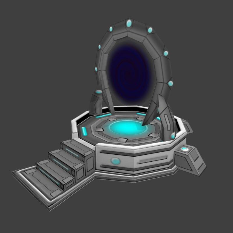 science fiction portal 3d model
