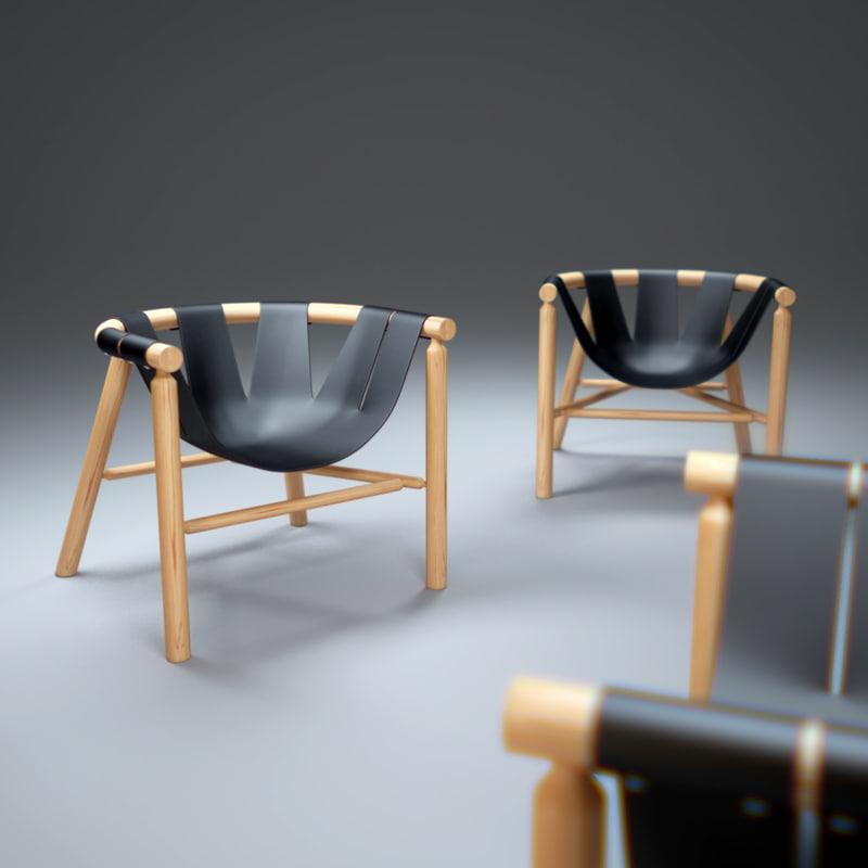 ninna-armchair 3d obj