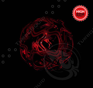 abstract ball 3d 3ds