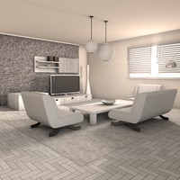 living room deluxe 3d max