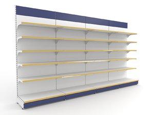 3d model supermarket shelf