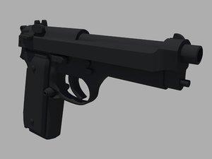 3d beretta m9 handgun
