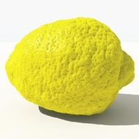 3d scanned lemon -