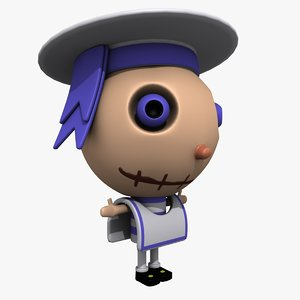 sailor cartoon character 3d max