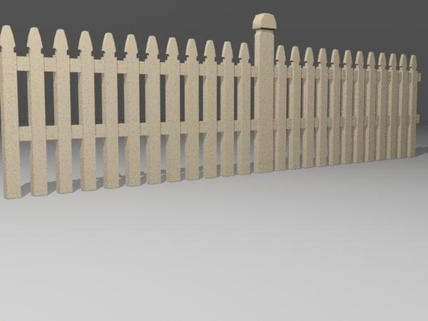 fence white x free