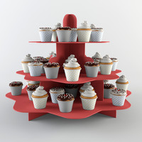 Cupcakes & Stand Set