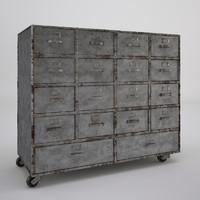 Aged Postal Cabinet