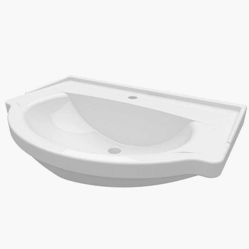 3d washbasin 750 335