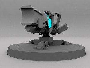 3ds max laser turret