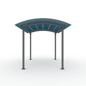 3d car canopy model