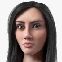 hair natalie v1 5 3d model