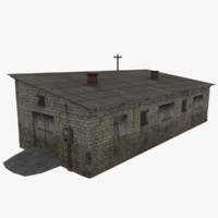 farm rural industrial building 3d model