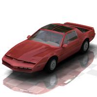 car firebird poser figures 3d model