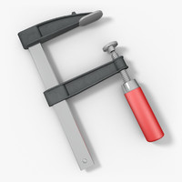 3d model of clamp f-clamp