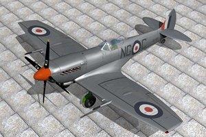 supermarine spitfire fighter 3d model