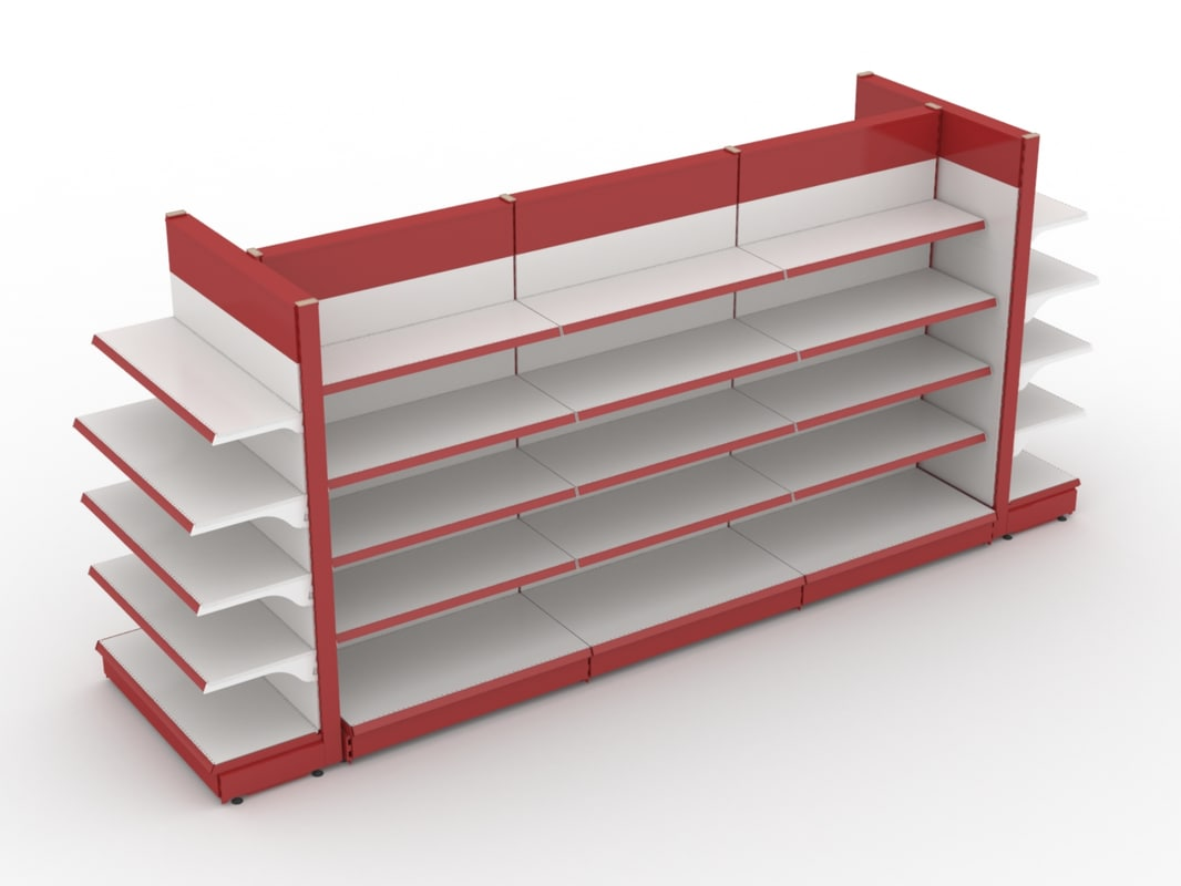 realistic supermarket 3d model