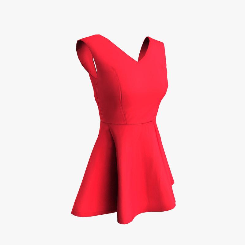 3d sleeveless dress model