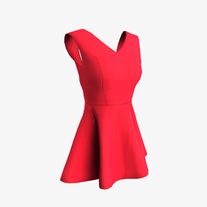 3d sleeveless dress model