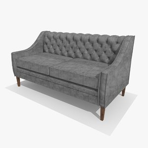 chesterfield chair c4d