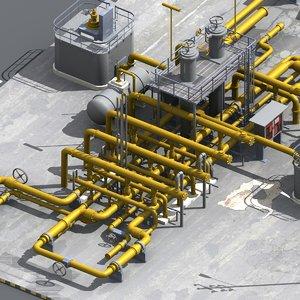 gas meter station 3d model