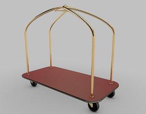 3d hotel trolley cart model