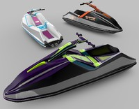 jet ski 3d model
