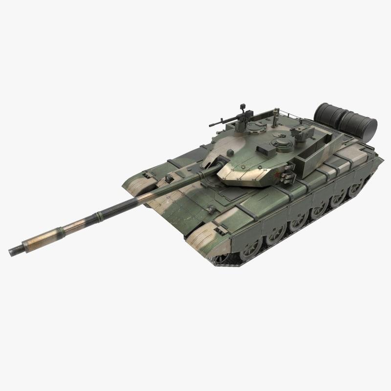 3d model wz-123 tank