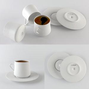 3d model turkish coffee cup sufi