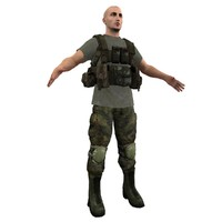 mercenary soldier 3d model