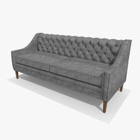 3d chesterfield chair model