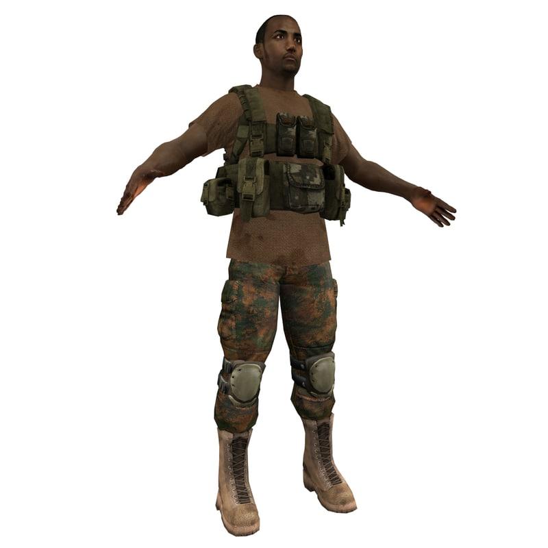 3d mercenary soldier