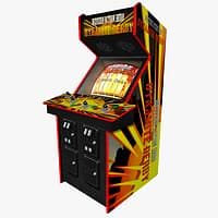 oldschool arcade gaming machine obj