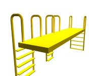 3d model conveyor crossovers