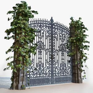 3d model gate -