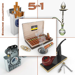 3d smoking pack cigarettes