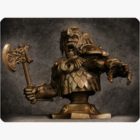 3d model dwarf bust