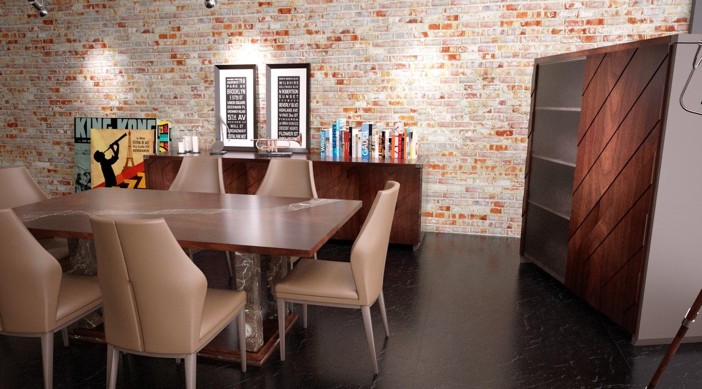 3d ready dining room