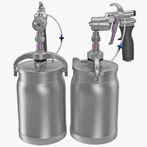 sprayer spray 3d model