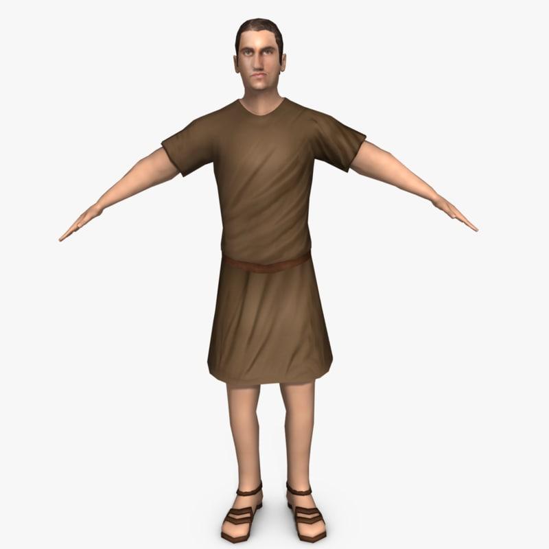 3ds max ancient roman man