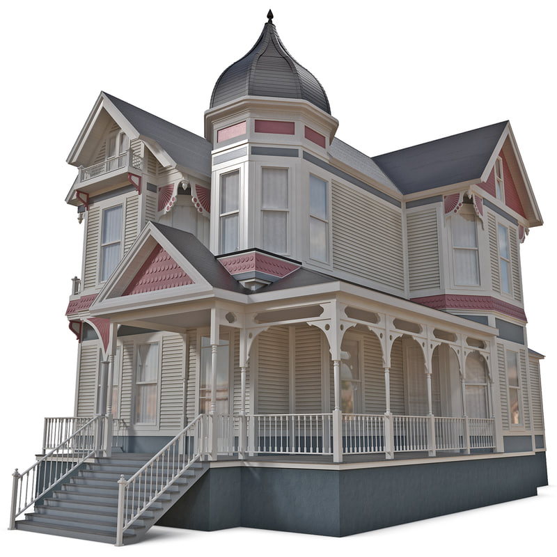 3d victorian house