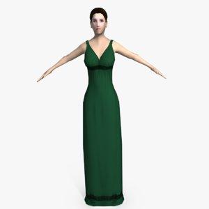 3d ancient roman woman model