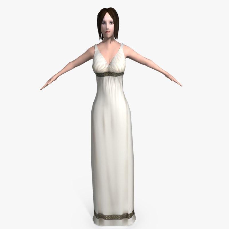 3d ancient roman woman