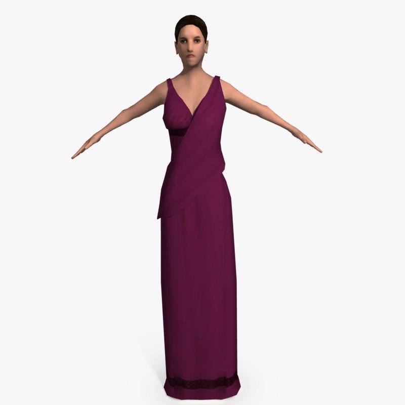 3ds max roman woman