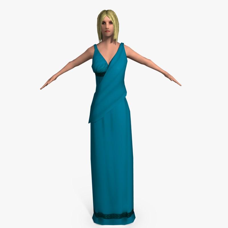 3ds ancient roman woman